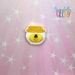 Pineapple Jam Feltie ITH Embroidery Design 4x4 hoop (and larger)