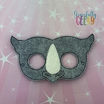 Rhino Mask  Embroidery Design - 5x7 Hoop or Larger