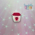 Strawberry Jam Feltie ITH Embroidery Design 4x4 hoop (and larger)