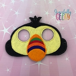Toucan Mask  Embroidery Design - 5x7 Hoop or Larger