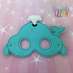 Whale Mask  Embroidery Design - 5x7 Hoop or Larger