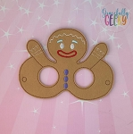 Gingerbread Mask  Embroidery Design - 5x7 Hoop or Larger Release: Nov27 OCTW4