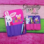 Happy Easter Crayon Holder Embroidery Design - 4x4 Hoop or Larger