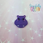 Hippo Feltie ITH Embroidery Design 4x4 hoop (and larger)