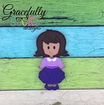 Ava Girl Dress up Doll - Embroidery Design 5x7 hoop or larger