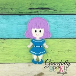 Carly Girl Dress up Doll - Embroidery Design 5x7 hoop or larger