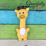 Giraffe Rattle Stuffie Embroidery Design - 5x7 Hoop or Larger