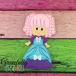 Gracie Girl Dress up Doll - Embroidery Design 5x7 hoop or larger