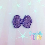 Hairbow Feltie ITH Embroidery Design 4x4 hoop (and larger)