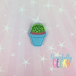 Succulent Pot Feltie ITH Embroidery Design 4x4 hoop (and larger)