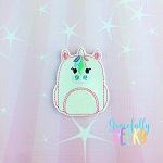 Unicorn backpack Feltie ITH Embroidery Design 4x4 hoop (and larger)