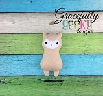 Llama Stuffie Embroidery Design - 5x7 Hoop or Larger