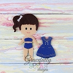 Meggie Doll Set - Embroidery Design 5x7 hoop or larger