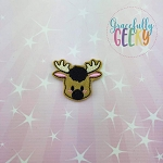 Moose Feltie ITH Embroidery Design 4x4 hoop (and larger)