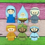 Nativity Finger Puppet  Embroidery Design - 4x4 Hoop or Larger