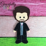 Groom Dress up Doll - Embroidery Design 5x7 hoop or larger