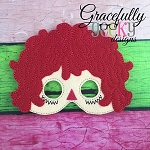 Rag Doll  Mask Embroidery Design - 5x7 Hoop or Larger