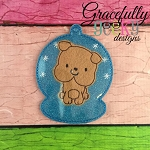 Bulldog ornament Embroidery Design 4x4 hoop and up