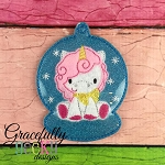 Unicorn ornament Embroidery Design 4x4 hoop and up