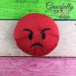 Angry Stuffie Embroidery Design - 5x7 Hoop or Larger