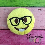Nerd Stuffie Embroidery Design - 5x7 Hoop or Larger