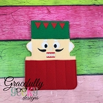Nutcracker Crayon Holder Embroidery Design - 5x7 Hoop or Larger
