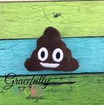 Happy Poop Stuffie Embroidery Design - 5x7 Hoop or Larger