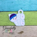 2016 Snowman ornament Embroidery Design 4x4 hoop and up