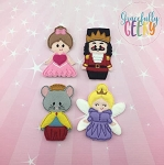 Nutcracker finger puppet set - Embroidery Design