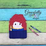 Brave Princess Crayon Holder Embroidery Design - 5x7 Hoop or Larger