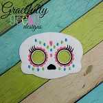 New Sugarskull Mask 1 Embroidery Design - 5x7 Hoop or Larger
