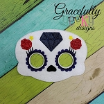 New Sugarskull Mask 2 Embroidery Design - 5x7 Hoop or Larger