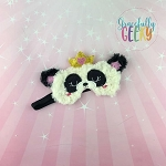 Panda Sleep Mask Embroidery Design - 5x7 Hoop or Larger