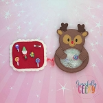 Rudolph iSpy  Embroidery Design - 5x7 Hoop or Larger