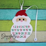 Santa Countdown To Christmas Embroidery Design - 5x7 Hoop or Larger