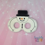 Snowman Mask 2  Embroidery Design - 5x7 Hoop or Larger Release: Nov27 OCTW4