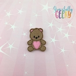 Teddy Feltie ITH Embroidery Design 4x4 hoop (and larger)