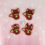 Fox Feltie SET ITH Embroidery Design 4x4 hoop (and larger)