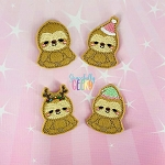 Sloth Feltie SET ITH Embroidery Design 4x4 hoop (and larger)