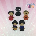 Panther finger puppet set - Embroidery Design