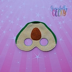 Avocado Mask Embroidery Design - 5x7 Hoop or Larger