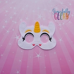 Unicorn Plush Mask Embroidery Design - 5x7 Hoop or Larger