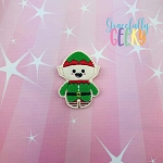 Candy Land Crew Elf Feltie ITH Embroidery Design 4x4 hoop (and larger)