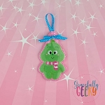 Candy Land Crew Grinch Ornament Embroidery Design - 4x4 Hoop or Larger