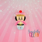 Nutcracker Stuffed Doll Embroidery Design - 5x7 Hoop or Larger