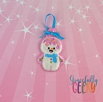 Candy Land Crew Snowman Ornament Embroidery Design - 4x4 Hoop or Larger