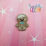 Candy Land Crew Gingerbread Feltie ITH Embroidery Design 4x4 hoop (and larger)