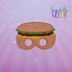 Cheeseburger Mask Embroidery Design - 5x7 Hoop or Larger