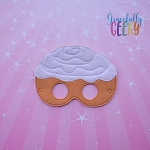 Cinnamon Roll Mask Embroidery Design - 5x7 Hoop or Larger