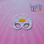 Daisy Mask Embroidery Design - 5x7 Hoop or Larger